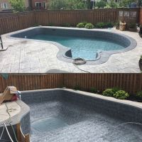 before and after pool liner installation