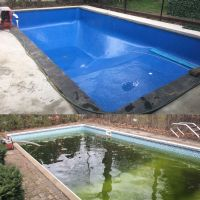 before and after pool liner